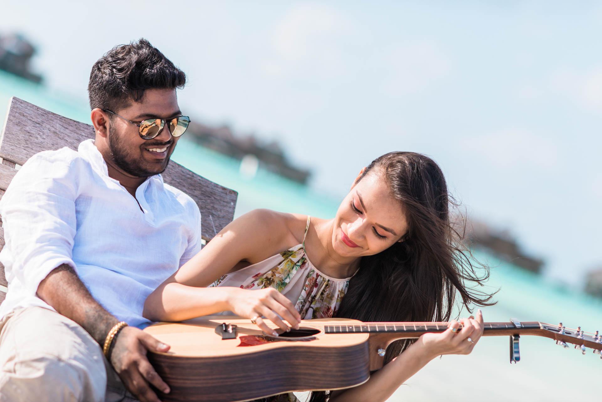 Abhijit Meghna Romantic Vacation in Maldives 21