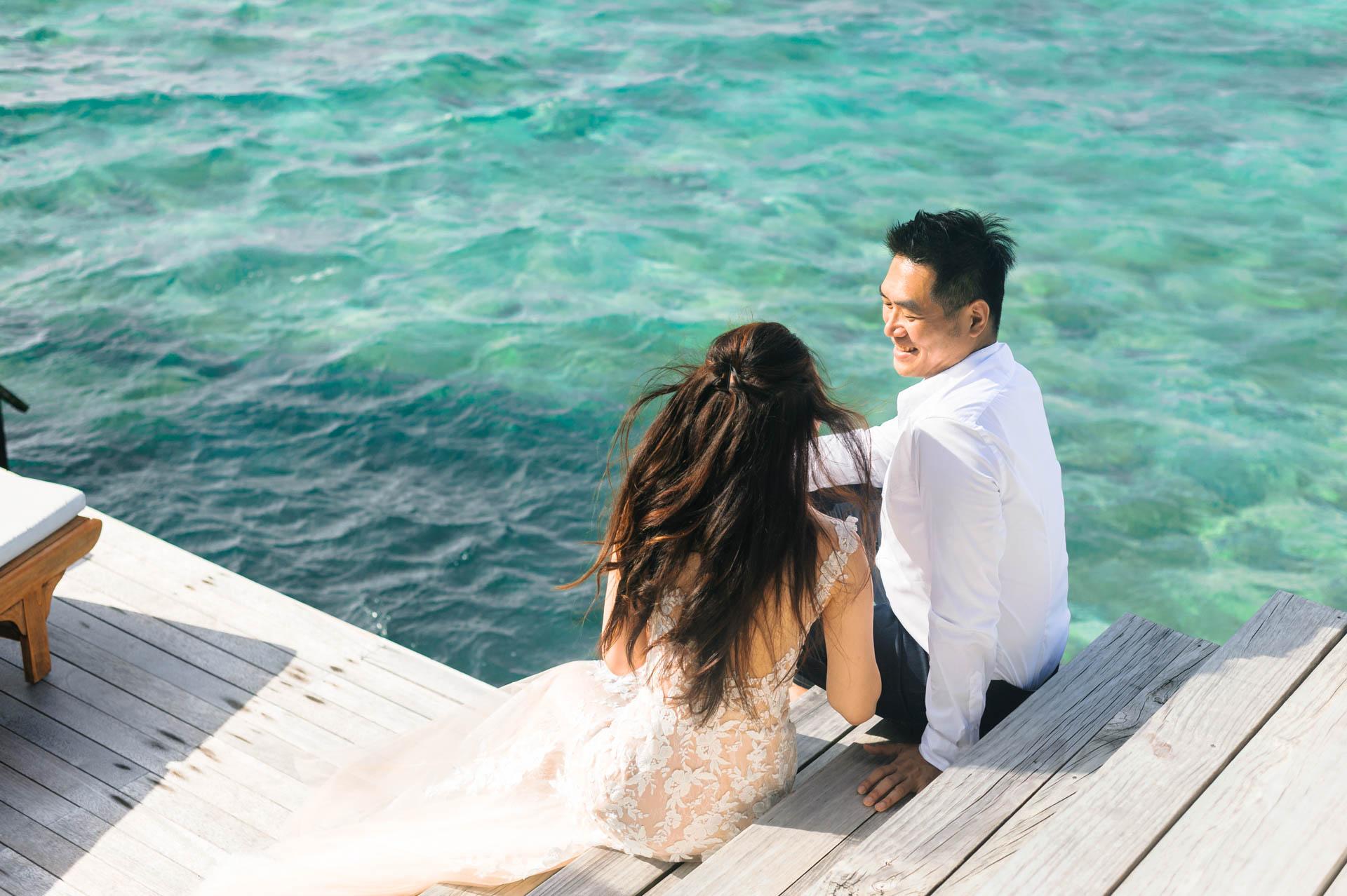 Andy Binbin Honeymoon at Anantara Kihavah 1
