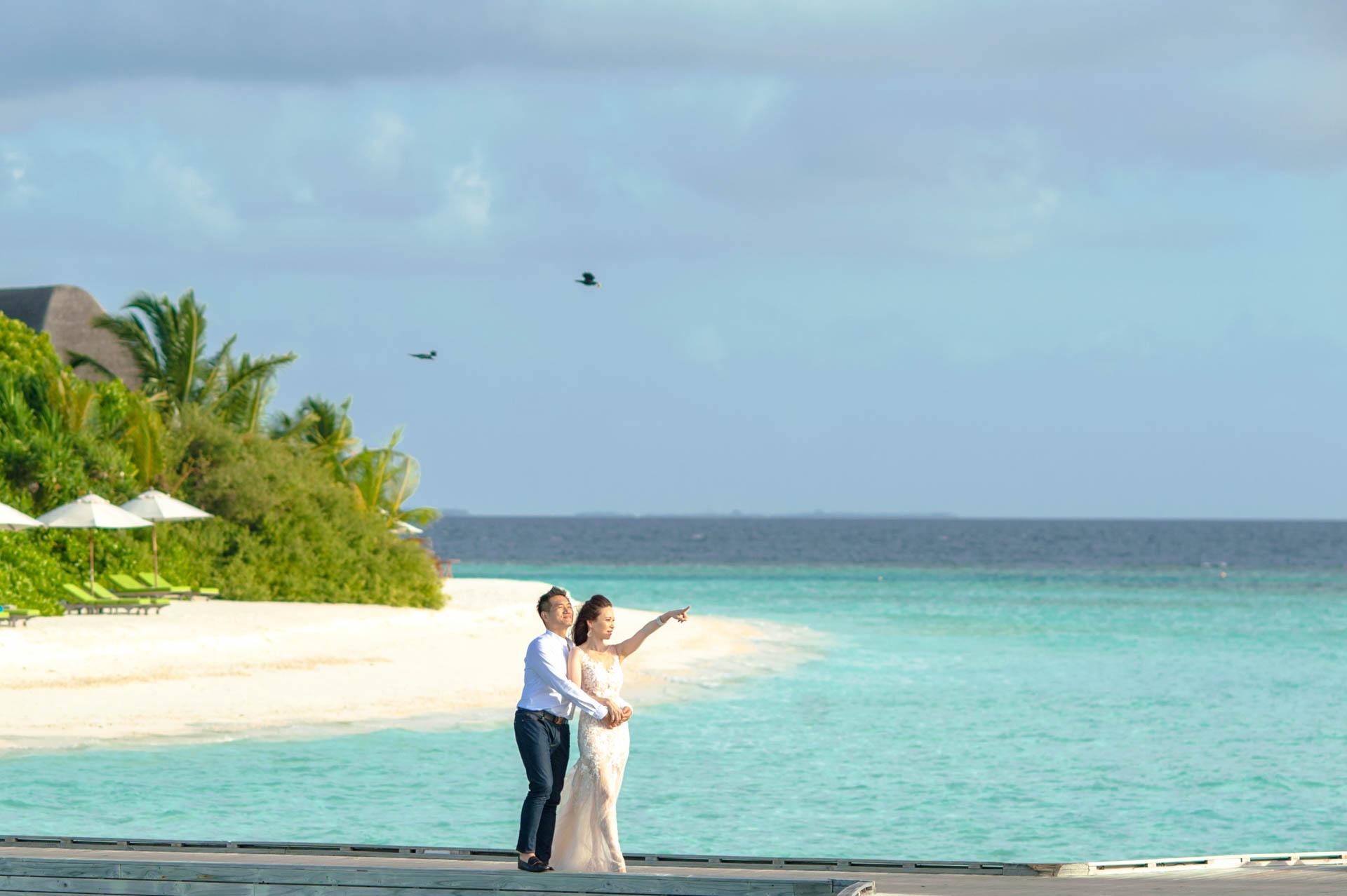 Andy Binbin Honeymoon at Anantara Kihavah 10