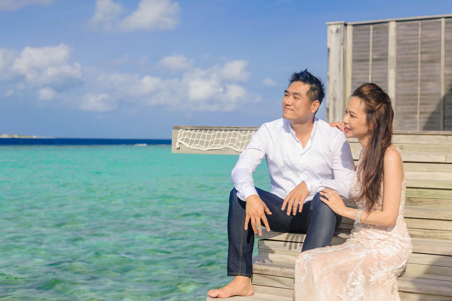 Andy Binbin Honeymoon at Anantara Kihavah 2