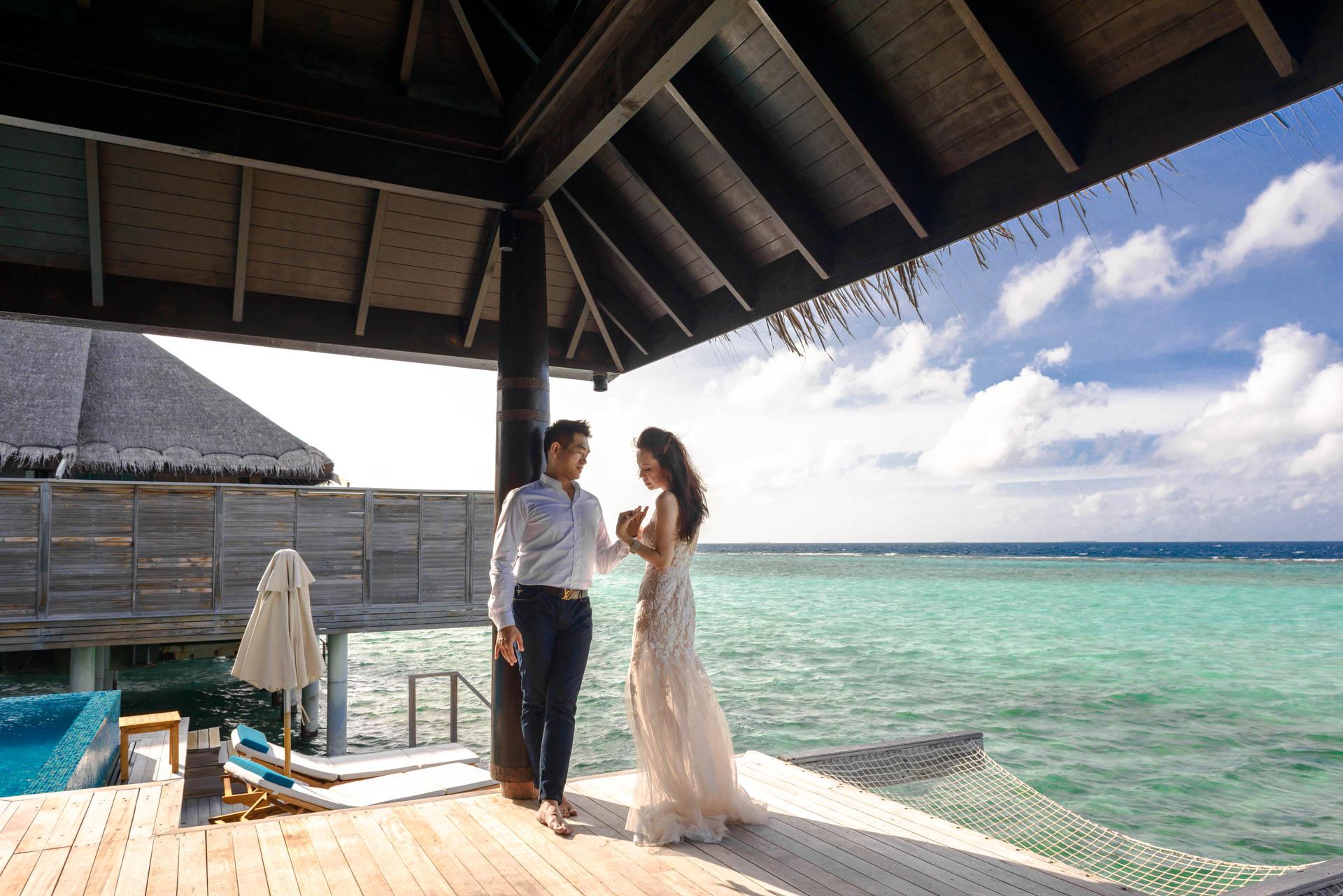 Andy Binbin Honeymoon at Anantara Kihavah 22