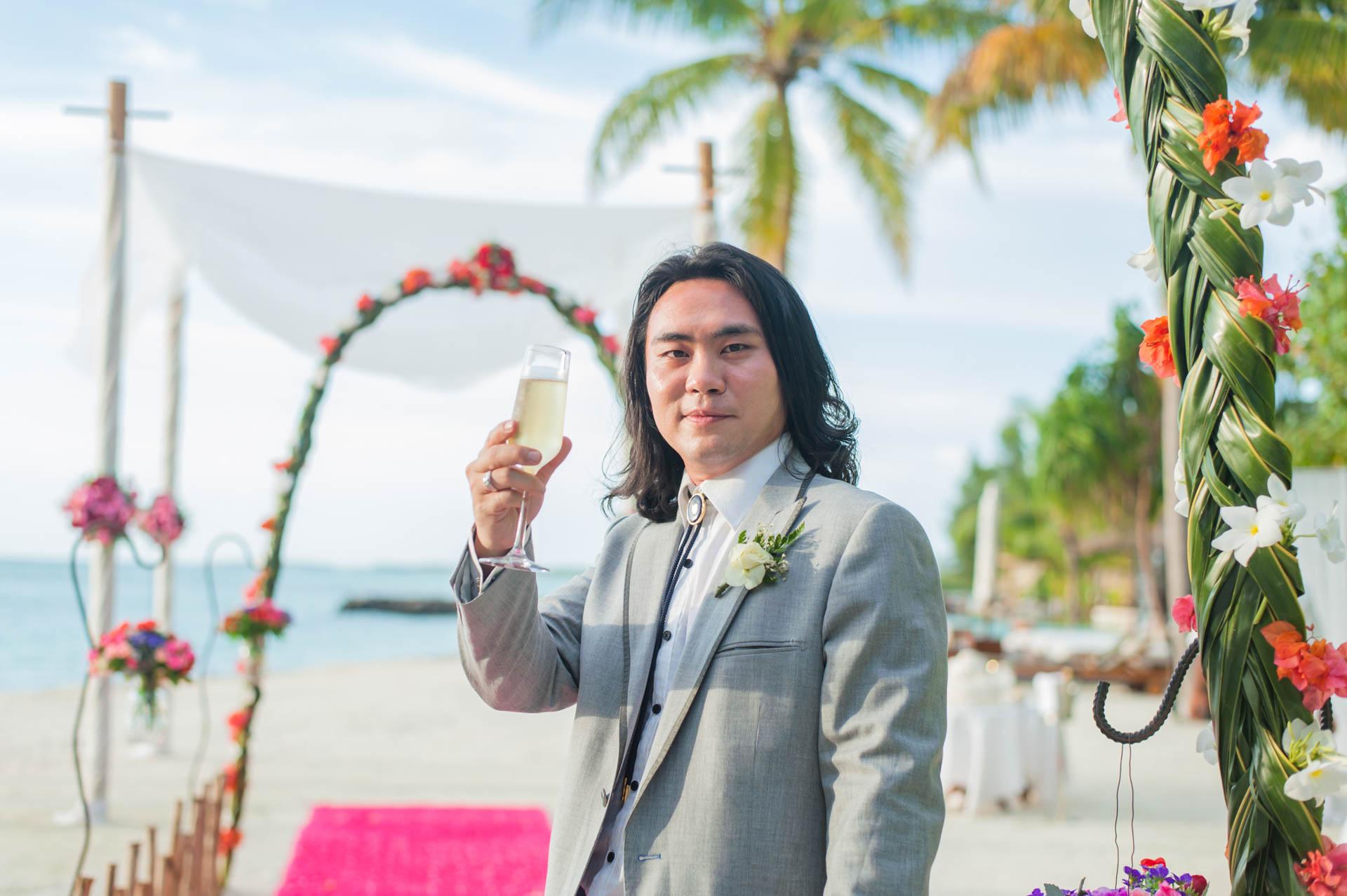 Chih Chao Yu Shan Destination Wedding at Residence Maldives 14