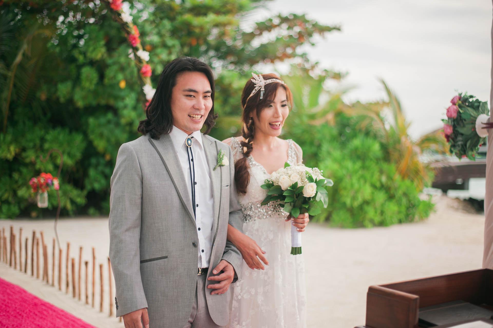 Chih Chao Yu Shan Destination Wedding at Residence Maldives 34