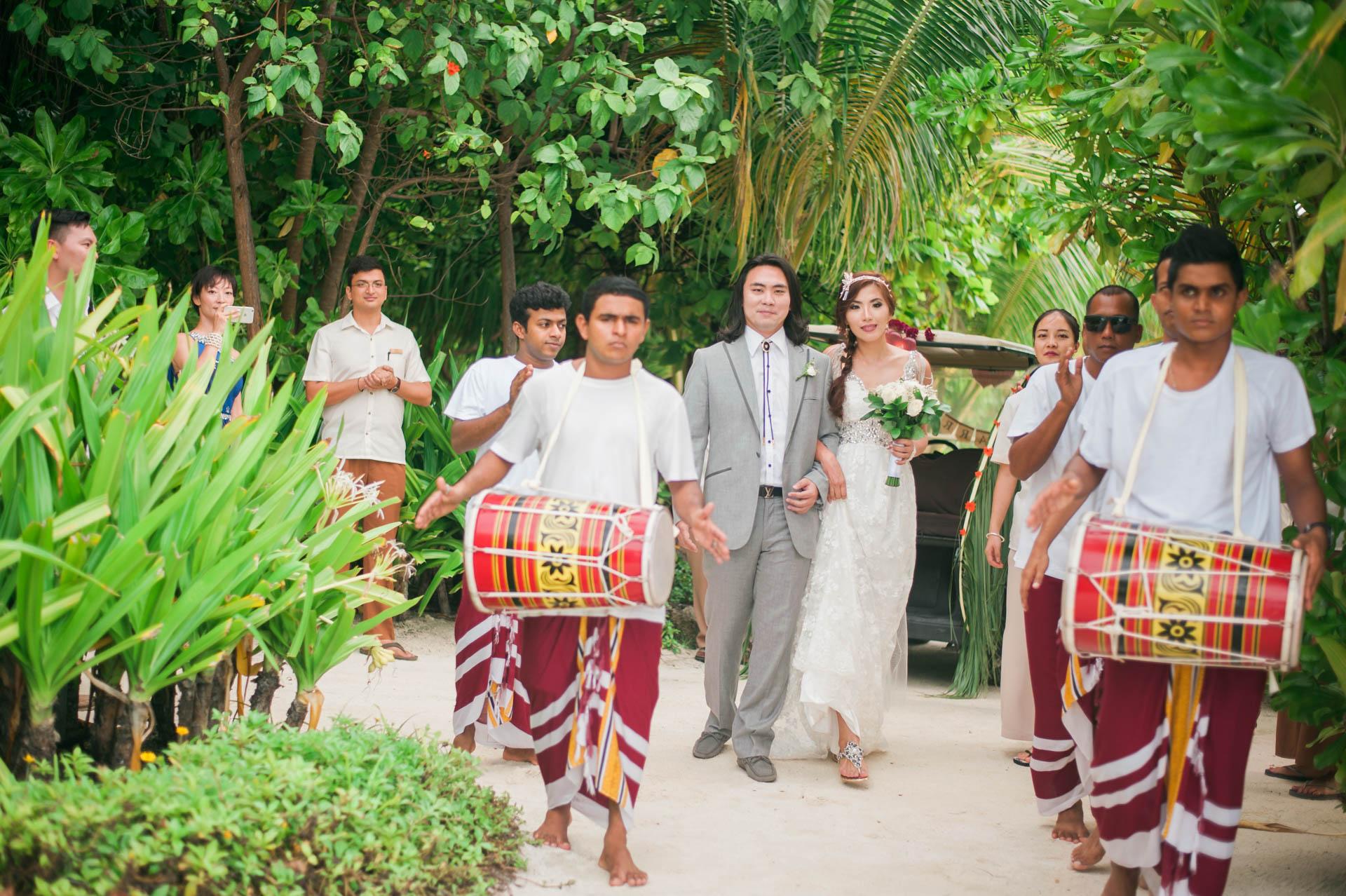 Chih Chao Yu Shan Destination Wedding at Residence Maldives 37