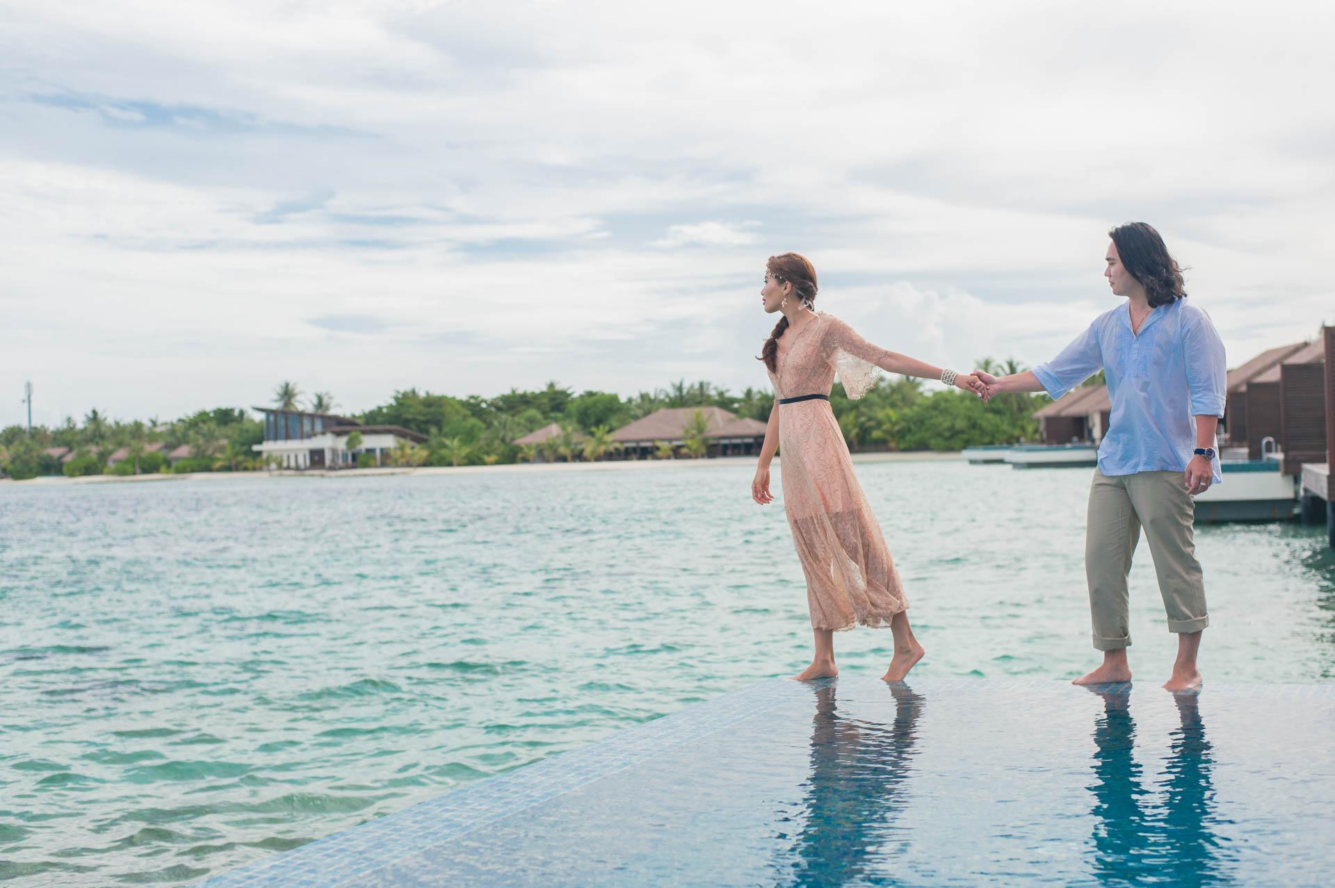 Chih Chao Yu Shan Destination Wedding at Residence Maldives 46