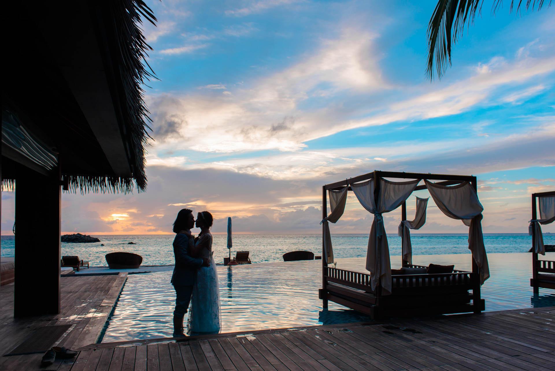 Chih Chao Yu Shan Destination Wedding at Residence Maldives 5