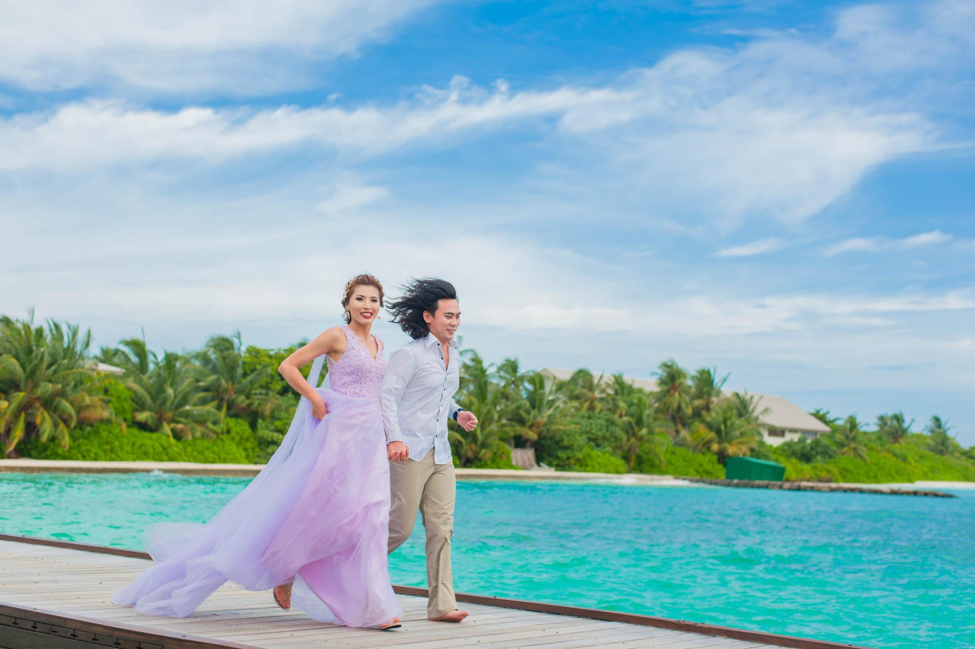 Chih Chao Yu Shan Destination Wedding at Residence Maldives 50