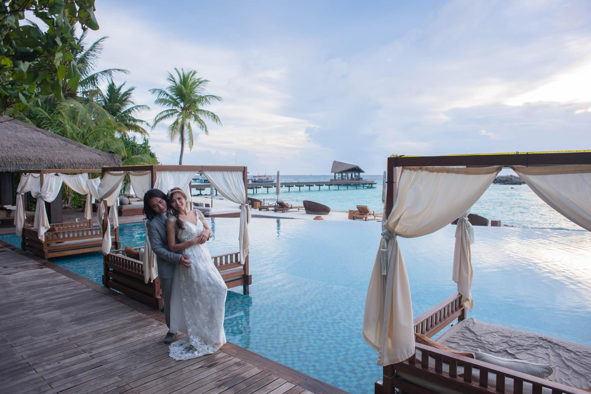 Chih Chao Yu Shan Destination Wedding at Residence Maldives 7