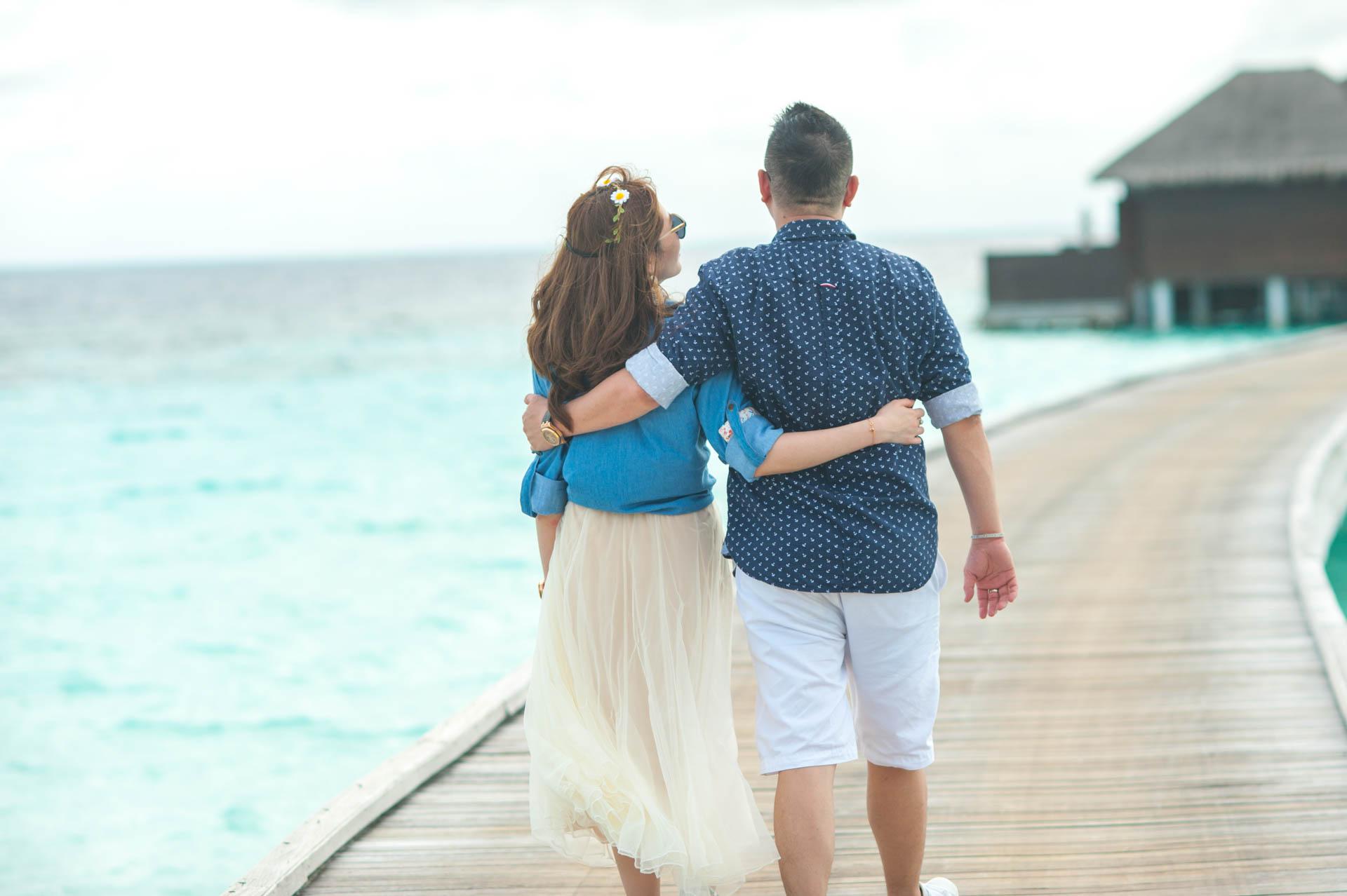 Chin Siew and Chin Yee Honeymoon in Maldives at Huvafen Fushi Resort Under Water Spa 3