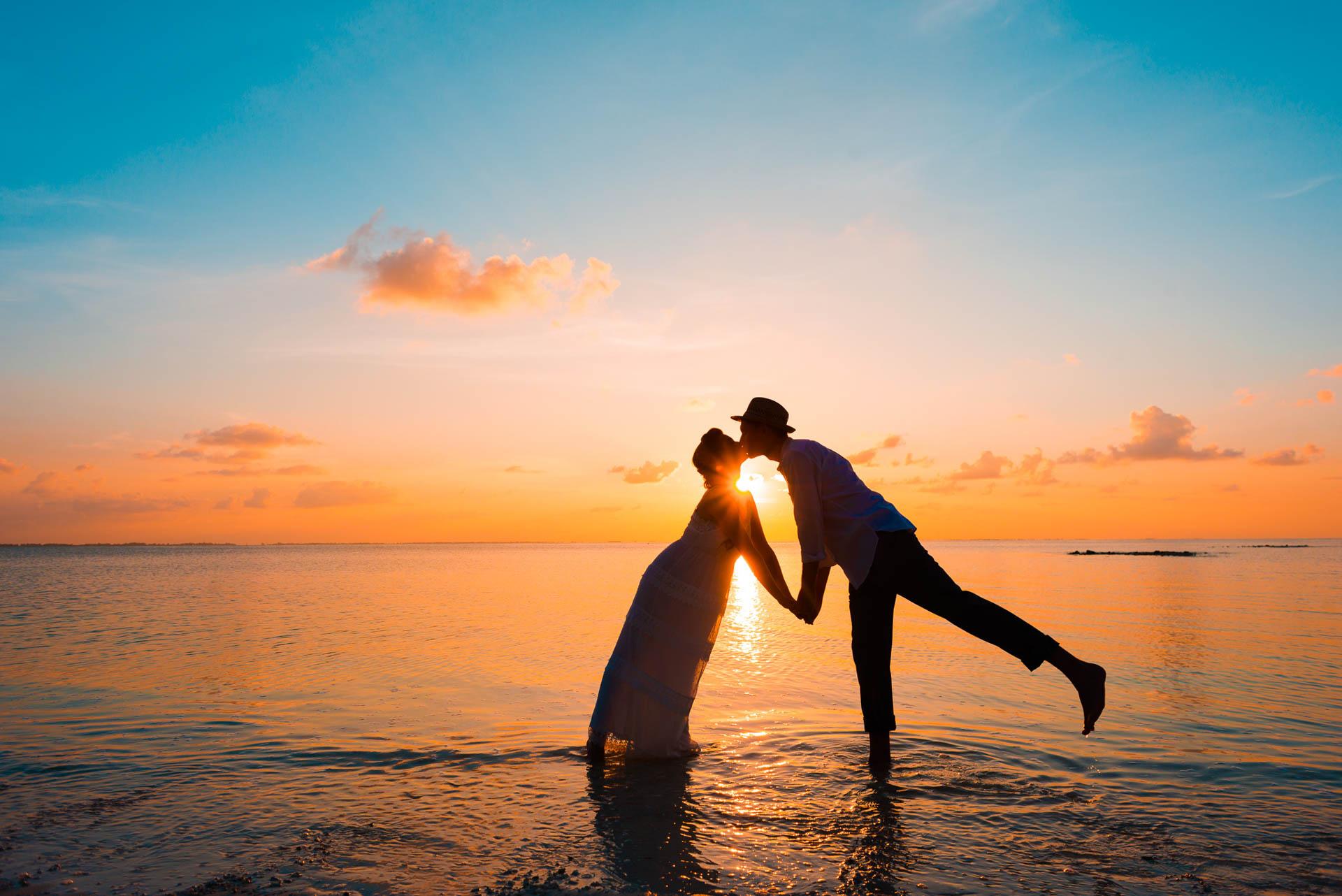 Heike Michaels Beach Wedding in Maldives 2