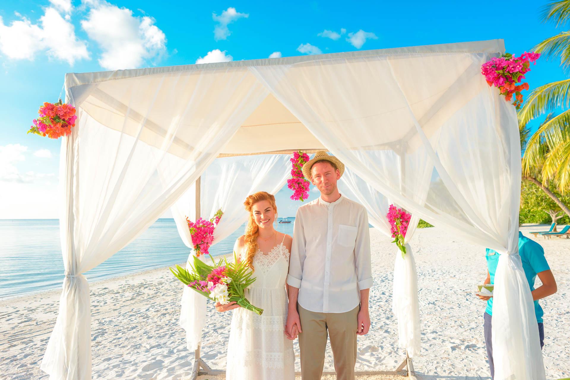Heike Michaels Beach Wedding in Maldives 21
