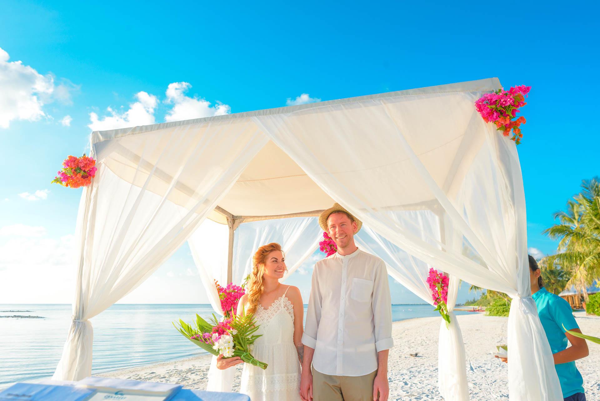 Heike Michaels Beach Wedding in Maldives 22