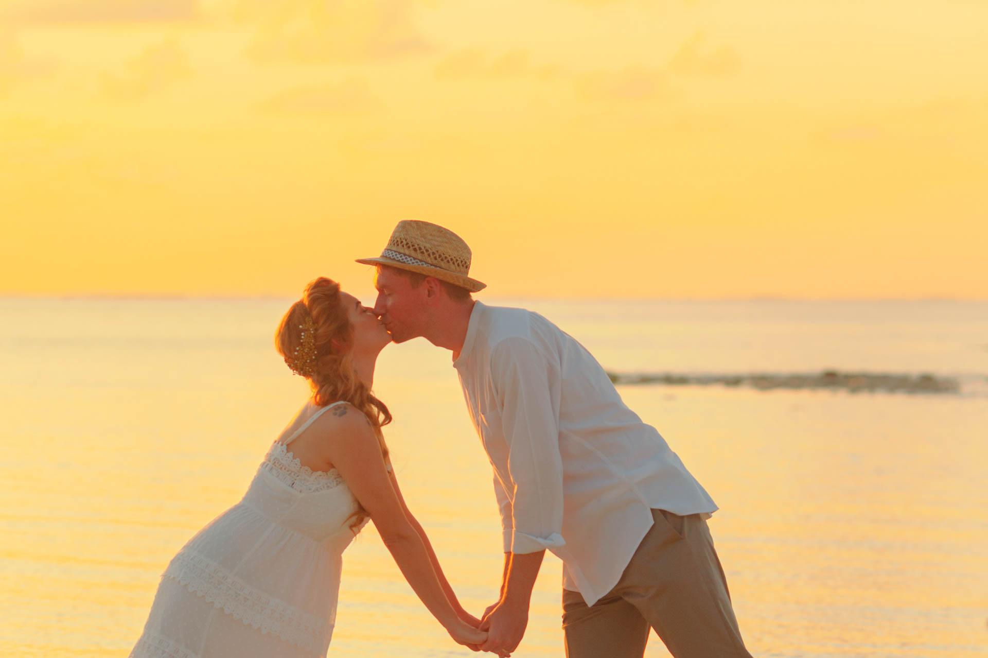 Heike Michaels Beach Wedding in Maldives 36