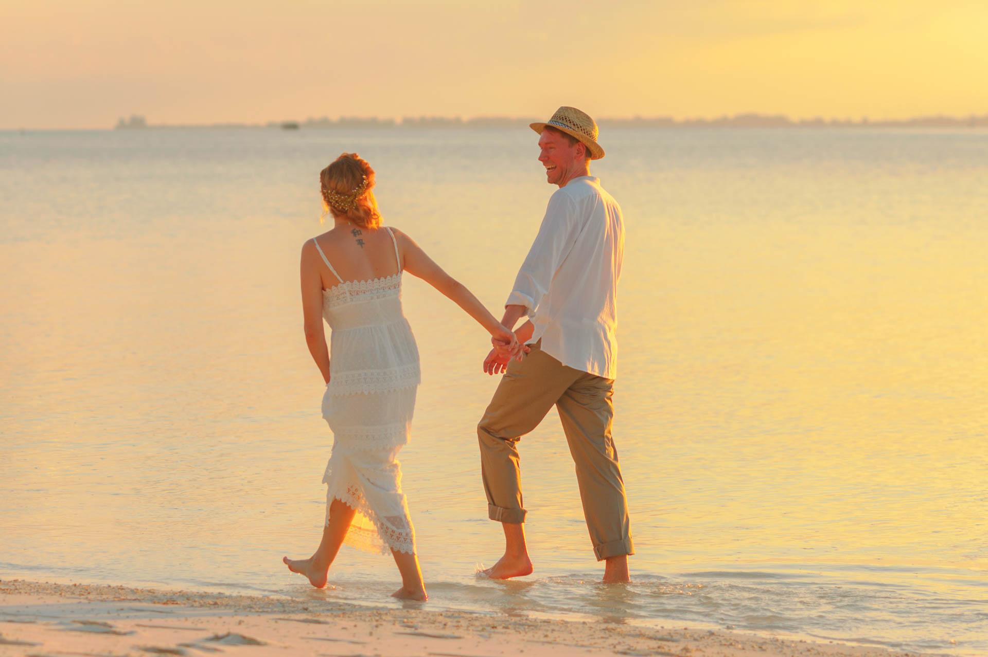 Heike Michaels Beach Wedding in Maldives 37