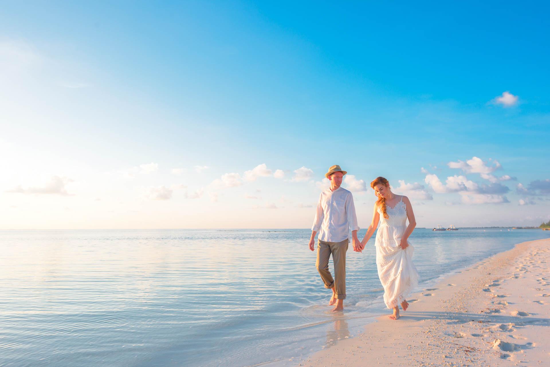 Heike Michaels Beach Wedding in Maldives 4