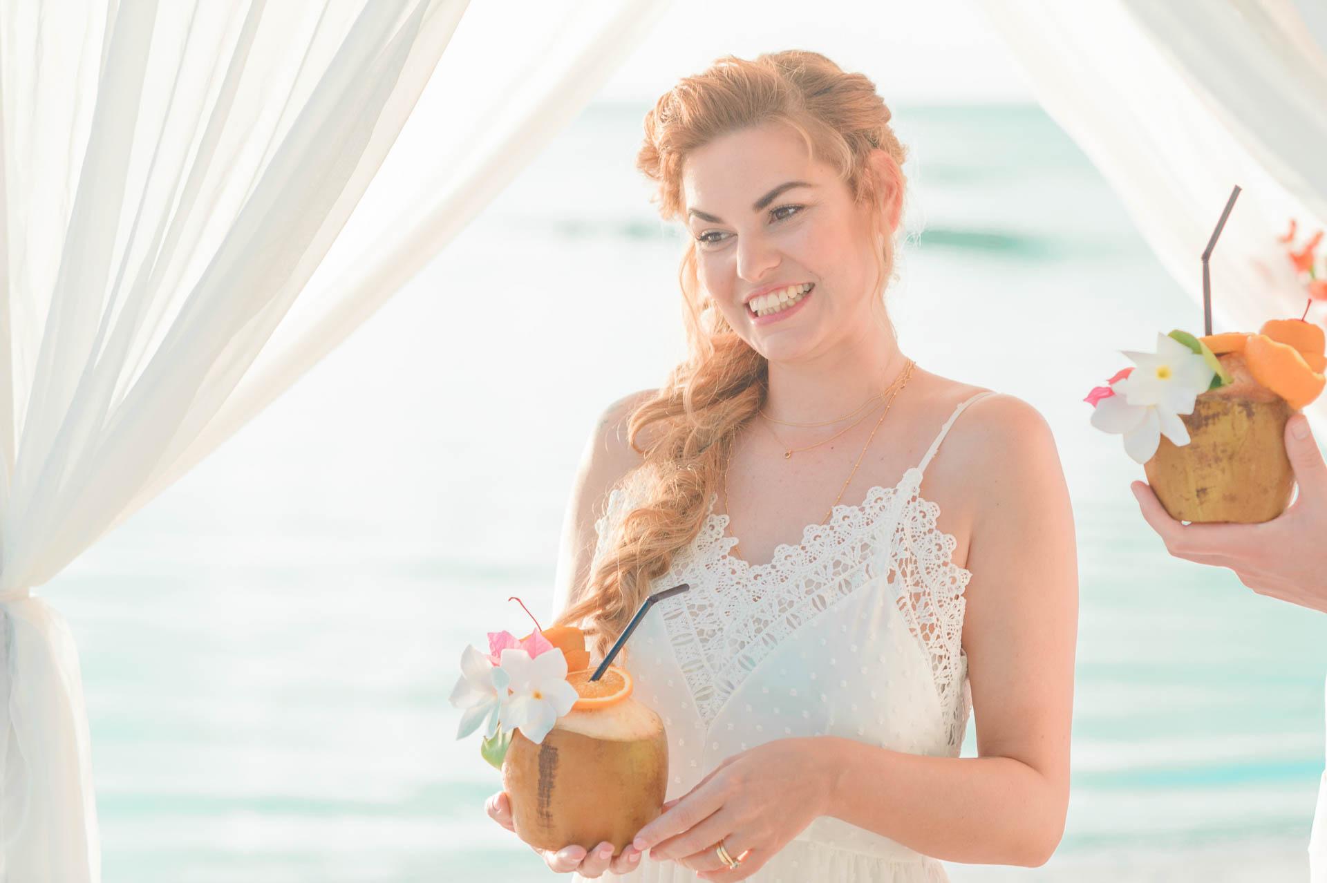 Heike Michaels Beach Wedding in Maldives 42