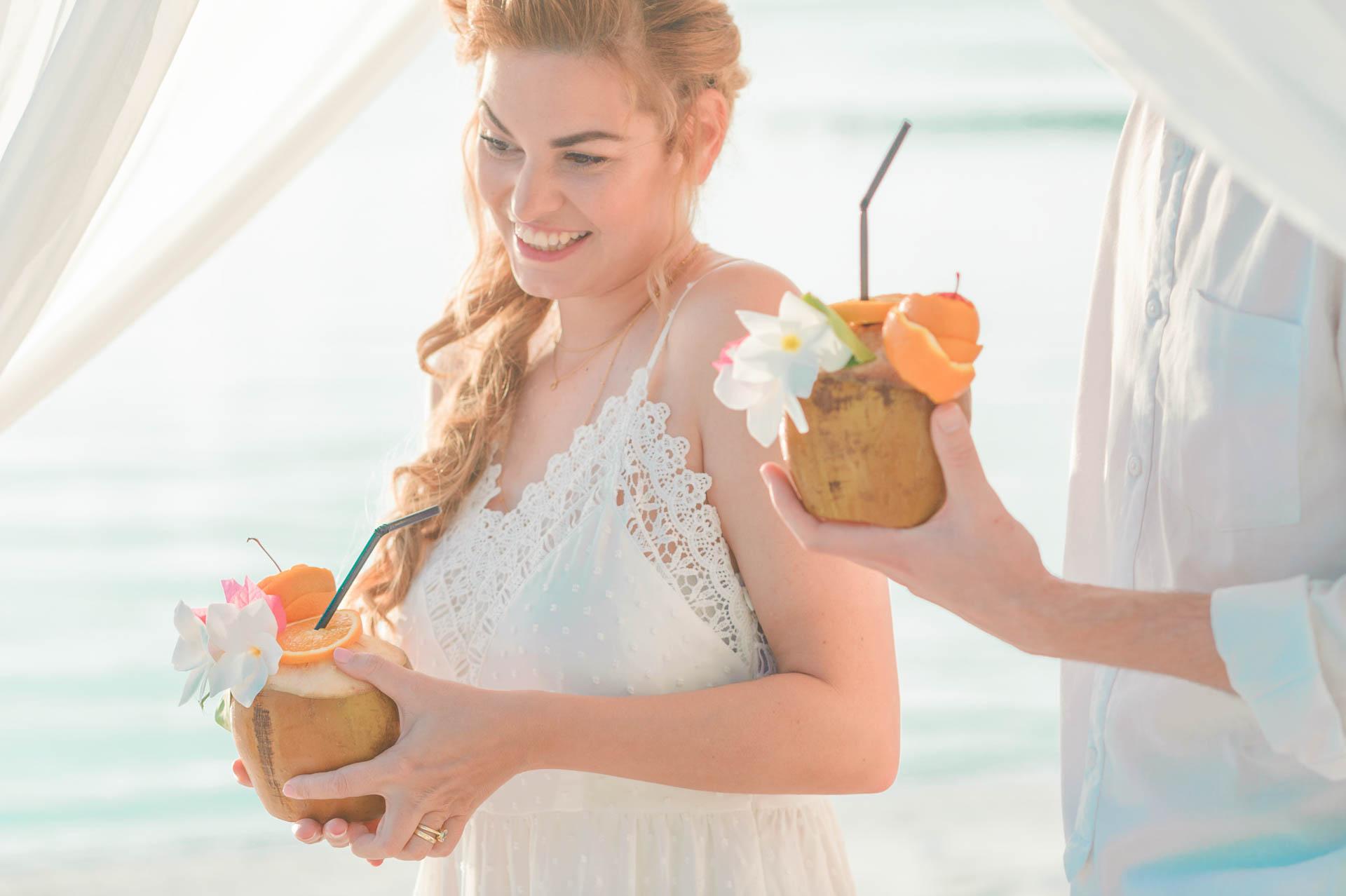 Heike Michaels Beach Wedding in Maldives 43