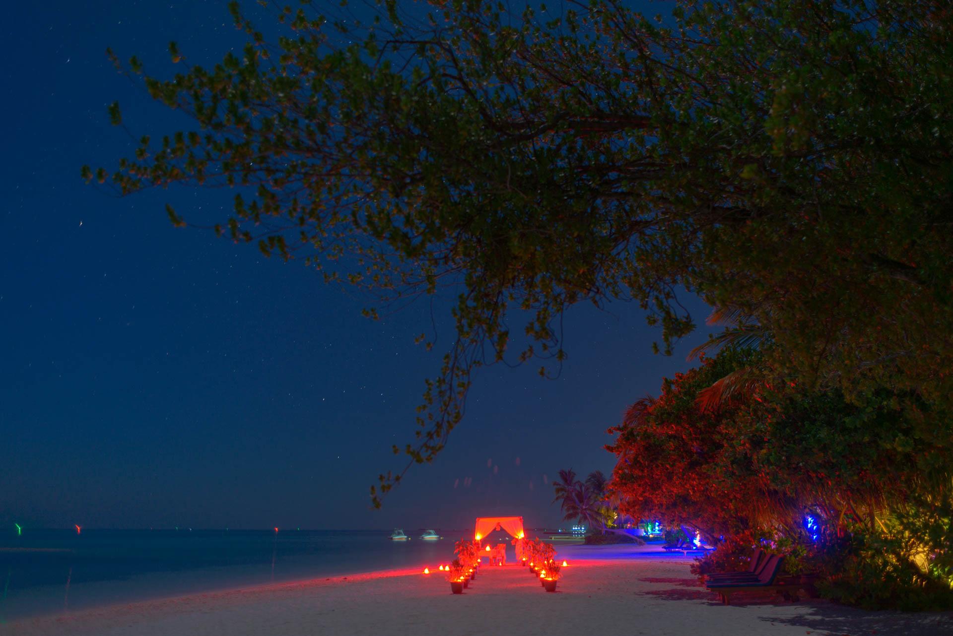 Heike Michaels Beach Wedding in Maldives 54