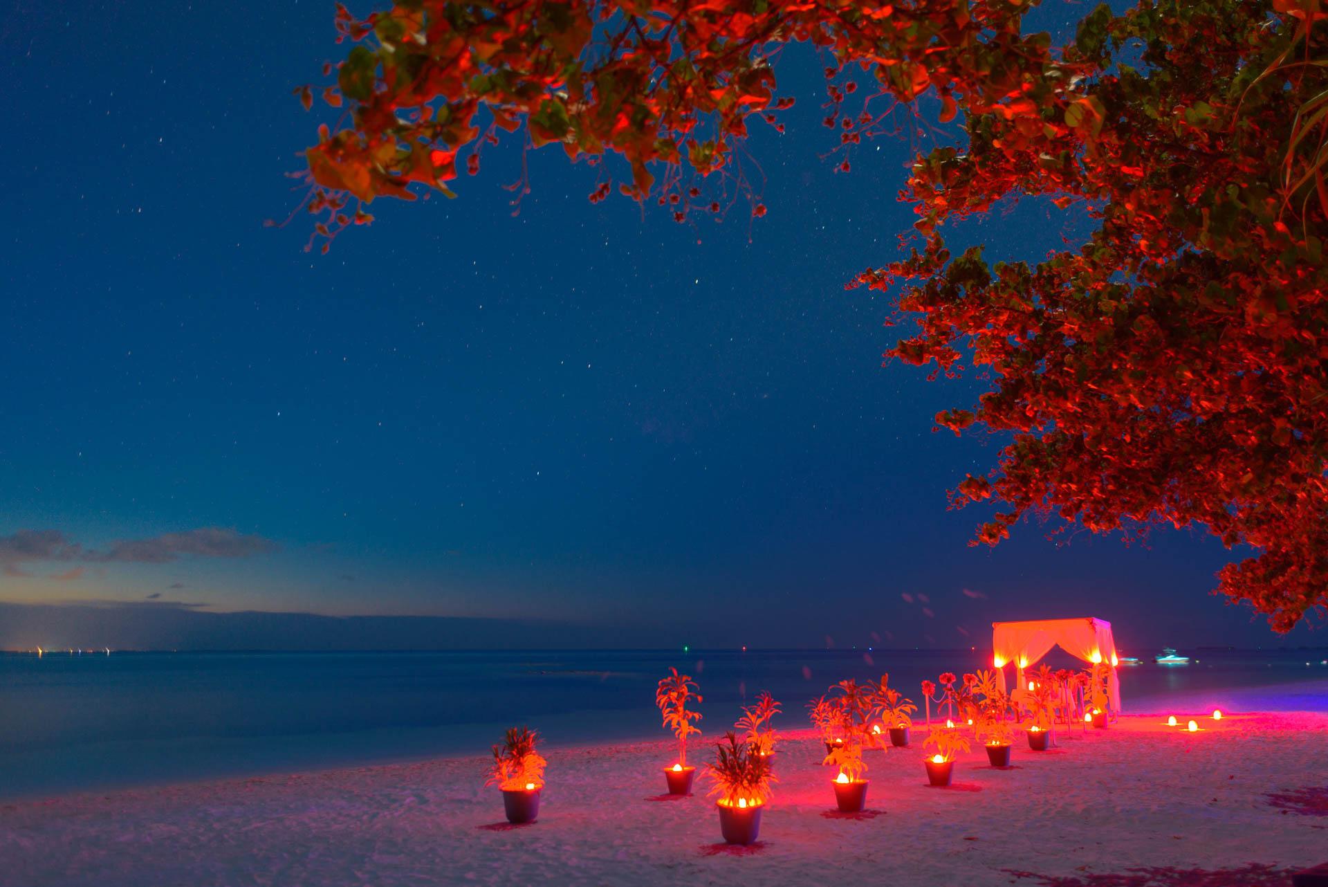 Heike Michaels Beach Wedding in Maldives 55