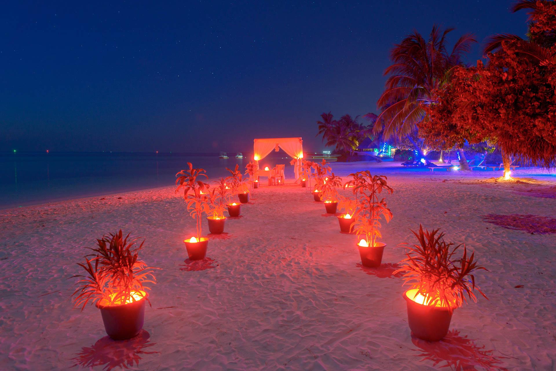 Heike Michaels Beach Wedding in Maldives 56