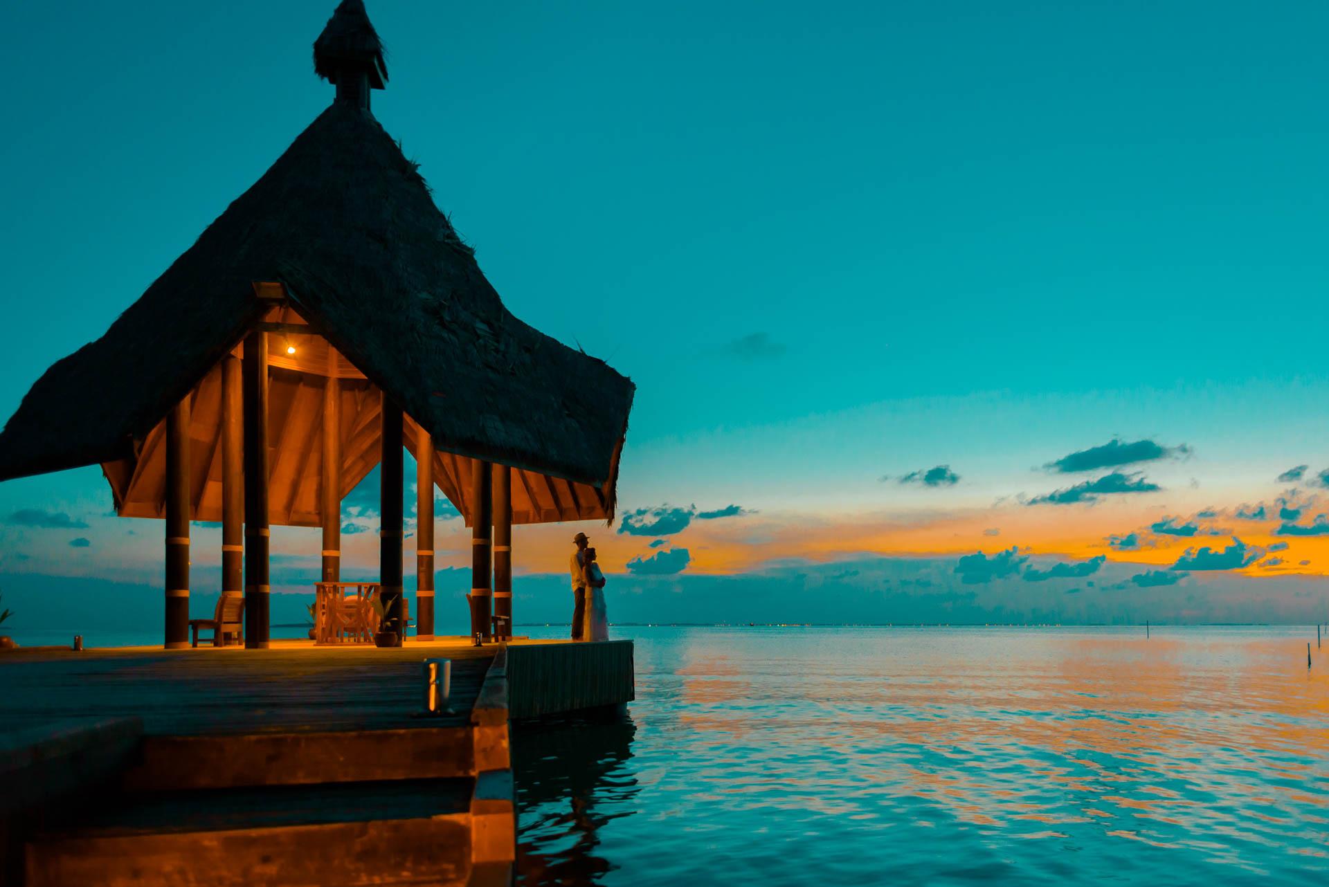 Heike Michaels Beach Wedding in Maldives 57