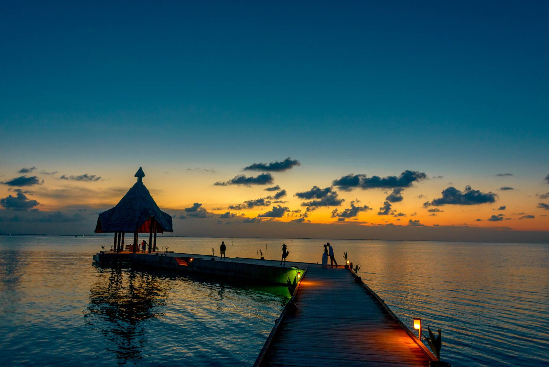Heike Michaels Beach Wedding in Maldives 61