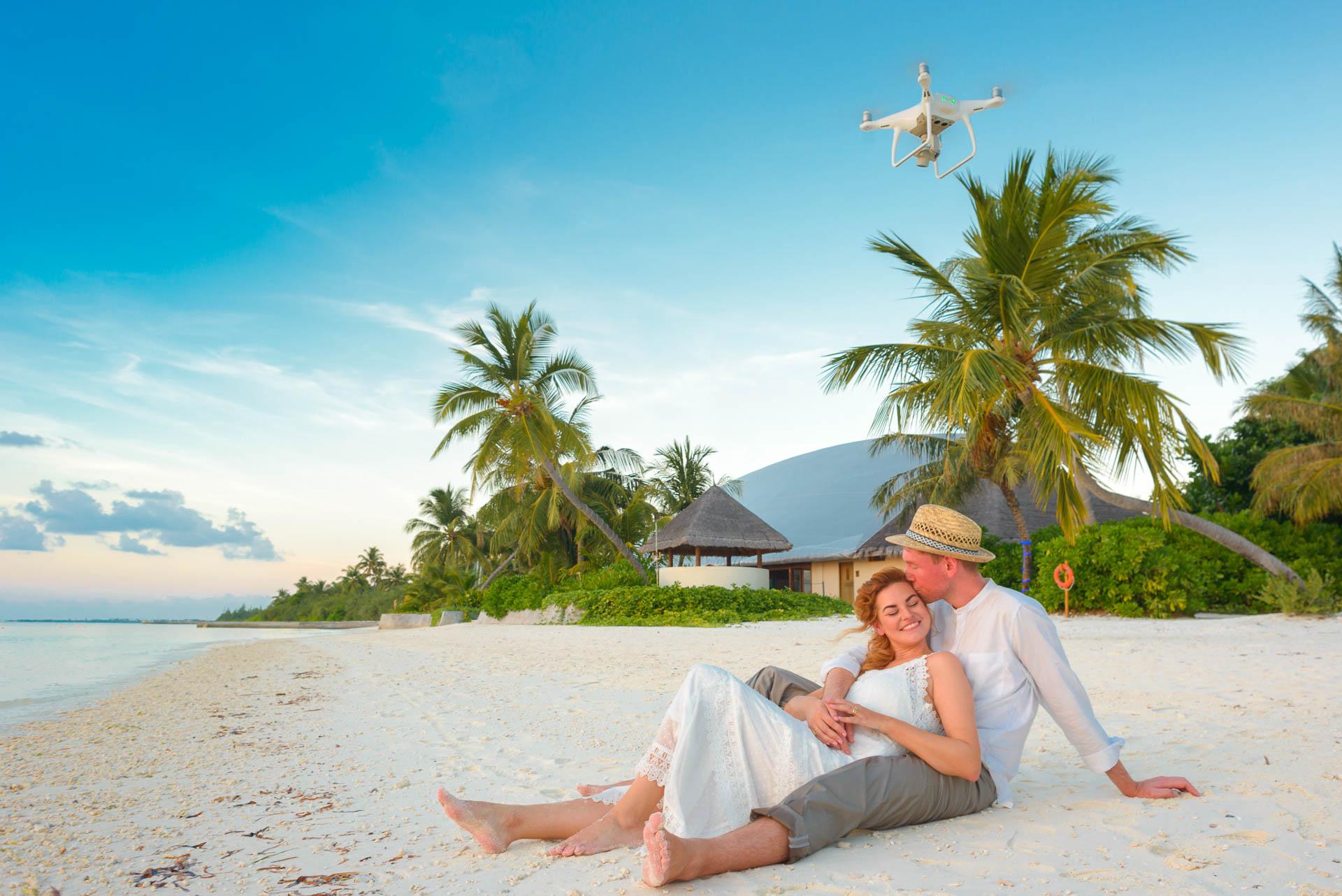 Heike Michaels Beach Wedding in Maldives 66