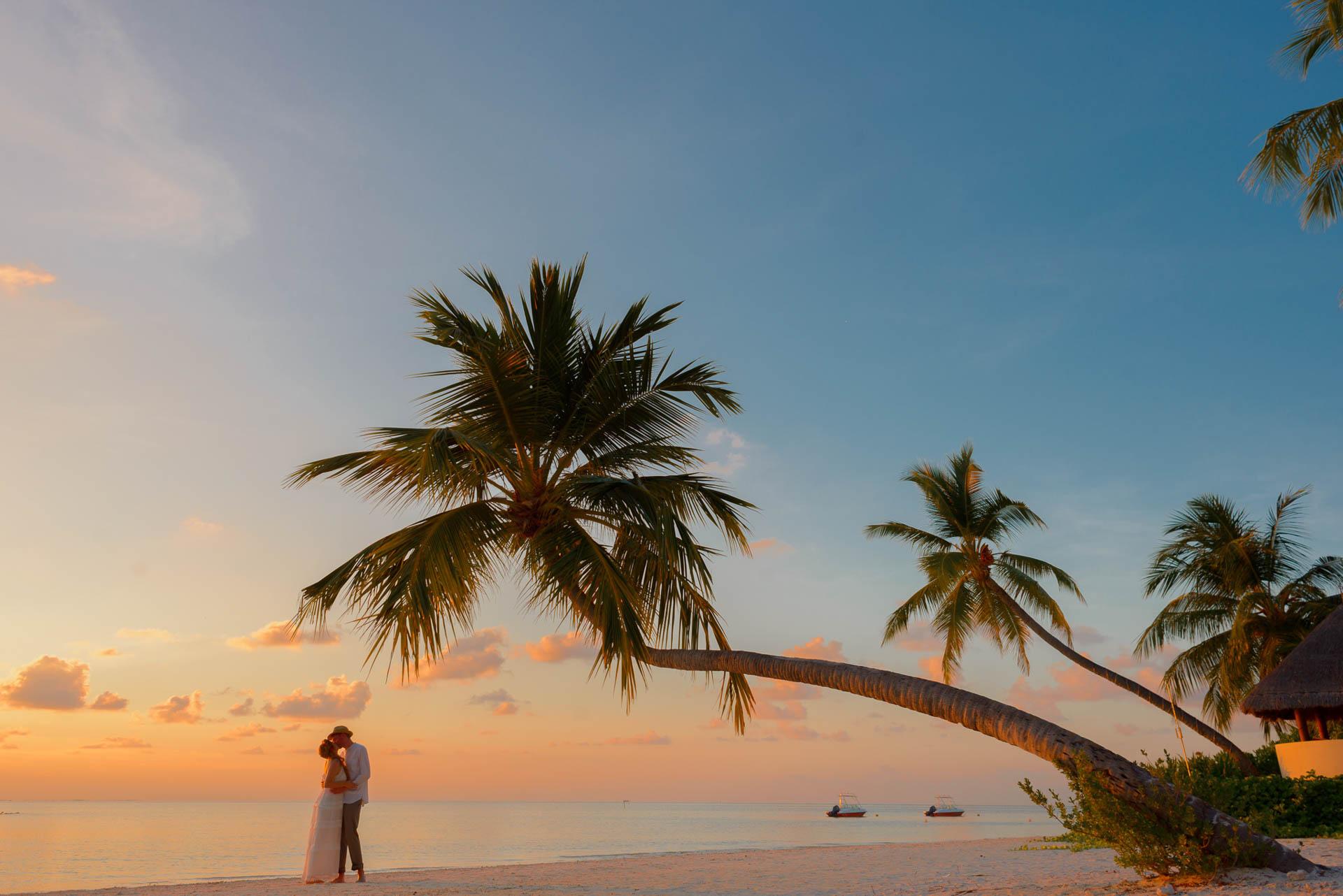 Heike Michaels Beach Wedding in Maldives 67