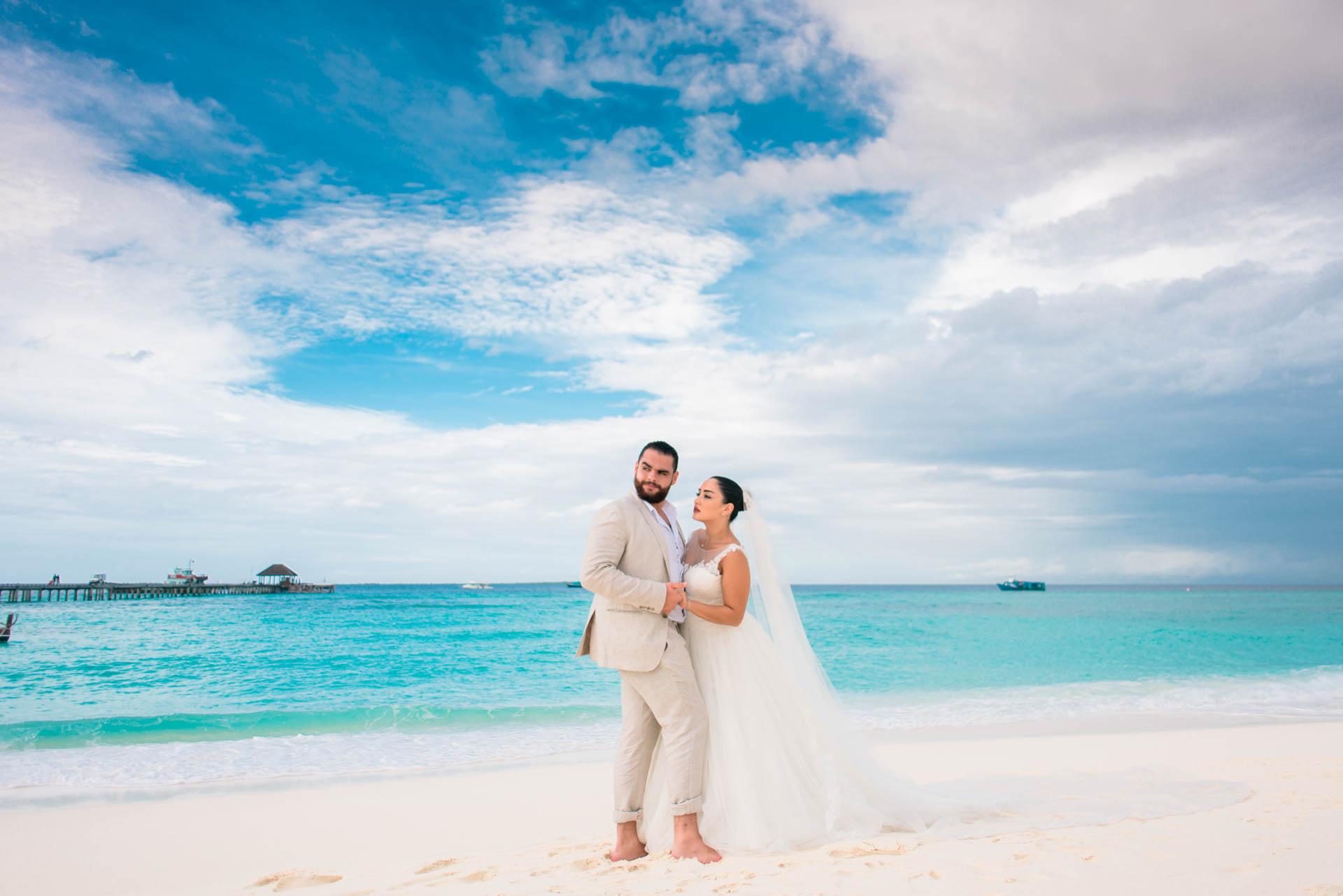 Ibrahim and Tamara at Ja Manafaru The north Most Resort of Maldives 1