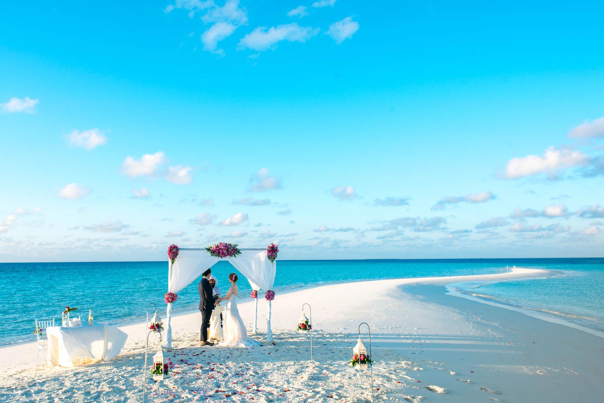 Kang Kim Sand Bank Wedding at St Regis Vommuly Maldives 12