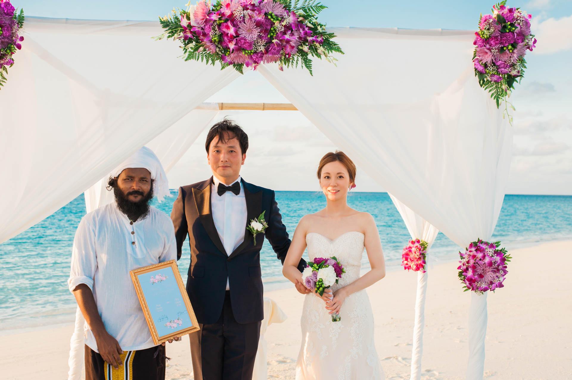 Kang Kim Sand Bank Wedding at St Regis Vommuly Maldives 18