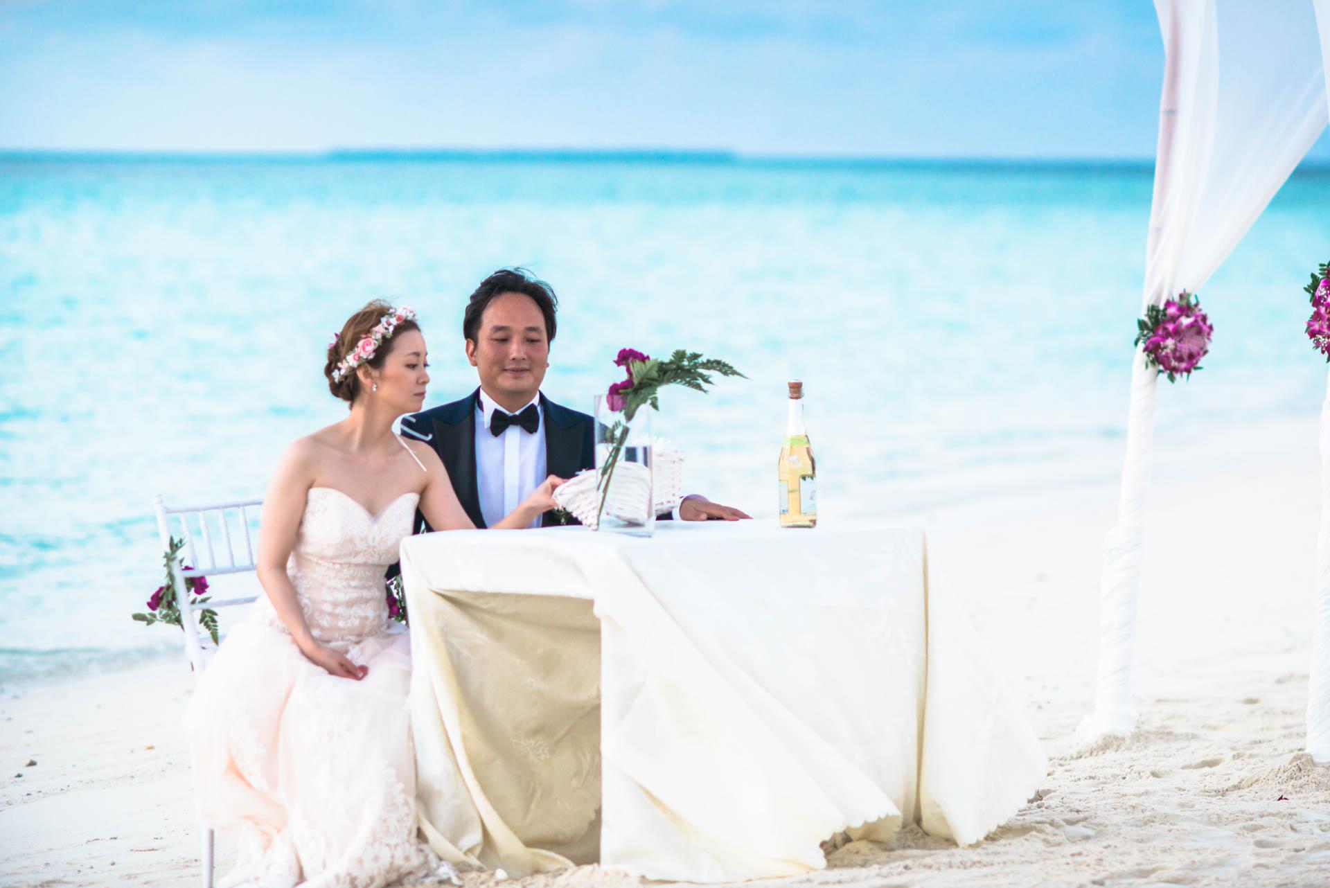 Kang Kim Sand Bank Wedding at St Regis Vommuly Maldives 5
