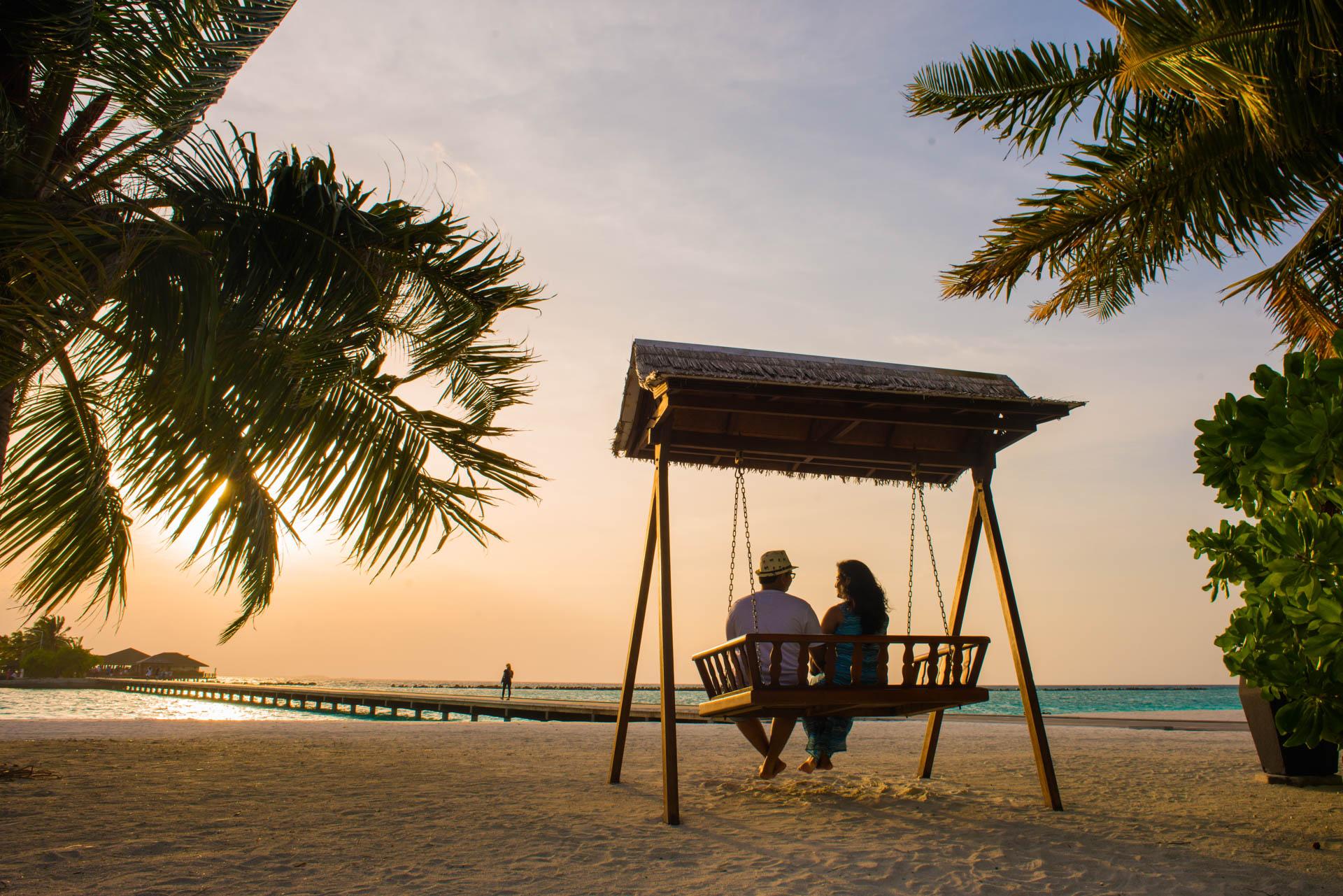 Sidhu and Agasthyas Anniversary Couple Photoshoot at Paradise Island Resort 9